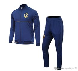 Wholesale Men S Summer Suit - HIGH 17- 18 MLS Soccer Jacket Suit Toronto La Galaxy New York City Orlando Track Suit Jogging Football Tops Coat Pants Adults Tracksuit