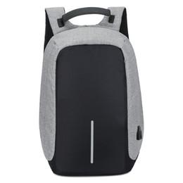 Wholesale Student Bag Backpack - 2017 Function anti-theft travel designer backpack male large capacity business computer backpack charge shoulder bag college student bag man
