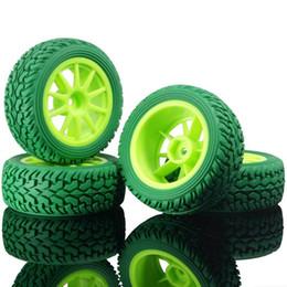 Автомобильные шины для ралли онлайн-RC HSP 910G-8019 Зеленый Rally Tires Колесные диски 4P для 1:10 On-Road Rally Car
