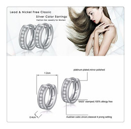 Wholesale China Led Earrings - 2017 New Arrival ORSA JEWELS Lead & Nickel Free Classic Silver Color Earrings Fashion Ear Jewelry for Women Wholesale OE101