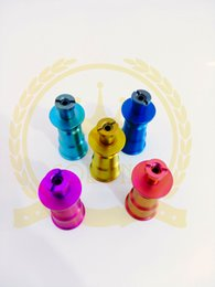 Wholesale Titanium Lighters - Cigarette Lighter Titanium Nails corona 6 in 1black green pink Glass Water Pipe bowls Hybrid Quartz Nail for 14,18mm Male Joint