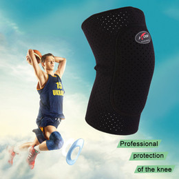 Wholesale Knee Padded Tights - Wholesale- 2016 Top Breathable Basketball Football Sports Kneepad High Elastic Knee Pad Tight Protective Kneelet free shipping