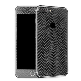 Wholesale Snake Skin Leather Wholesale - Leather Skin Stiicker For iPhone 7 6 6s Plus Samsung J5 J7 Full Body Textured Snake Skin Grain Wrap Sticker Protector With Retailpackage