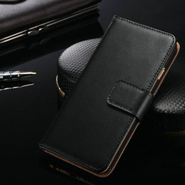 Wholesale Iphone Cases Real Leather Wallet - Real Genuine Leather Wallet Credit Card Holder Stand Case Cover For 5 6S Samsung Galaxy S7 edge For iphone 7 6 Plus S8