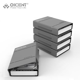 Wholesale External Hard Drives Covers - Wholesale- QICENT 5Psc lot Portable 3.5'' External SATA IDE SAS Hard Drive Storage Protective Case Cover - Gray