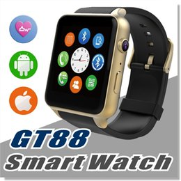 Wholesale Smartphone Heart Monitor - SIM Card Bluetooth Sports GT88 Smart Watch with Heart Rate Monitor and Wristwatch Phone Mate Independent Smartphone for Android IOS