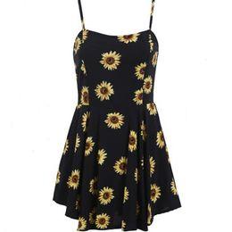 Wholesale Xxl Evening Gowns - New Arrival Fashion Floral Print Evening Dresses Spaghettl Strap Sexy Dresses Deep V-Neckline A-Line Mini Dresses S-XXl Black Color