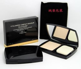Wholesale Concealer Perfection - New fashion VITALUMIERE Perfection Compact Powder Brand Face Makeup 3 Different Colors 13g SPF10 Lightweight Cosmetics Meticulous Powder