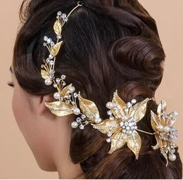 Wholesale Trendy Hair Accessories For Women - 2016 New Trendy Magnificent Rhinestone Bridal Tiaras Fashion Wedding Gold head band for Women Crown hair Jewelry Accessories