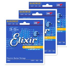 Wholesale Musical Parts - Wholesale- Elixir 12052 free shipping guitar strings electric guitar strings 10 musical instrument guitar parts Accessories guitarra 1 set