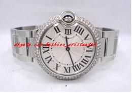 Wholesale Unique Sapphires - Fashion Brand Original Box Gift Luxury Top Quality Sapphire BRAND NEW DIAMONDS BEZEL 36MM W69011Z4 Quartz Movement Watch Unique