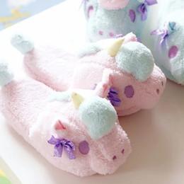 Wholesale Twin Stars - Wholesale-Little twin stars unicorn indoor slippers home pantofole Women Winter Indoor pantuflas panda