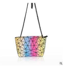 Wholesale Fresh Side - Hot selling colorful Laser diamond check one-side shoulder bags fashion bags for girls clutch bags free shipping