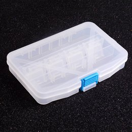 Wholesale Tackle Storage Boxes Plastics - Fishing Box Multifunctional High Strength Plastic Fishing Lure Bait Hooks Tackle multi Compartments Transparent Visible pesca