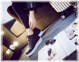 Zapatos de aumento de altura. Primavera de otoño e invierno. Zapatos de mujer. Chicas. Estudiante. Zapatos casuales de moda. Color sólido. PU. Impermeable. desde fabricantes