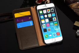 Wholesale Grid Iphone Covers - Luxury Grid Leather Case For iPhone 6 6S Plus With Vintage Retro Hot Selling Wallet Bag Cover For Apple iPhone 7 7plus Cases