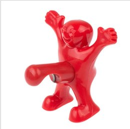 Cadeaux drôles pour les hommes en Ligne-Ouvreur de bouteille de bière rouge Happy Man Plastic Soda Cap Ouvreur Perky Novelty Grand cadeau Funny Kitchen Opening Tool