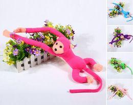Wholesale Monkey Hangs - 70cm Colorful Monkey Hanging Monkey Long Arm Plush Toy Baby Long Arm Stuffed Doll for Gift