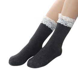 Wholesale White Socks Ruffles - Wholesale- Japanese Women White Lace Ankle Socks Lovely Ladies Princess Frilly Sock With Lace Retro Lolita Ruffle Socks #OR
