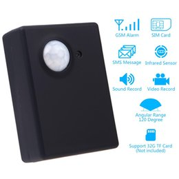 Wholesale Mms Sms Gsm Wireless - Wireless 1.3MP Infrared Camera Video Security Motion Detector GSM Home Office PIR SMS MMS Alarm System Anti-theft EU adapter