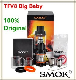 Wholesale Design Atomizer - 100% Original Smok TFV8 Big Baby Tank 5.0ml TFV8 Big Baby Cloud Beast Top Refilling Atomizer With Re-designed Bottom Pair air-slots