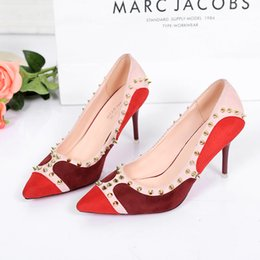 Wholesale Party Shoes For Ladies - High Heels Shoes Woman Casual Dress Pumps For Lady 2 Color