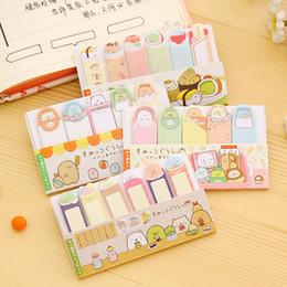 All'ingrosso- 2 pezzi di cancelleria in stile coreano di cancelleria Carino angolo creatura mini messaggio post nota adesiva Memo pad Materiale scolastico per ufficio da