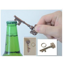Wholesale Wine Keys - NEW Mini Portable Key chain Antique Key Shape Steel Bottle Openers Beer Wine Bottle Opener Keychain Opener Tool with package