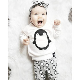 Wholesale Penguin Suits - Baby suits with penguin pattern three piece