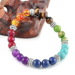 Wholesale Decoration Jewelry Box - Healing Crystals Eye Agate Chain Bracelet Healing Jewelry Balance Round Beads Silver Bracelet Natural Stone Agates Tiger Yoga Jewelry