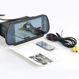 "Wholesale Rear View Mirror Lcd Screen - 7"" LCD TFT Color Screen + Car Reverse Rear View Backup Camera DVD Mirror Monitor"