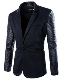 Wholesale high quality favors - Men's autumn winter leisure fashion personality trend new han edition boutique favors high quality stitching jackets   M-2XL