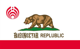Wholesale Flag California - California Bassnectar Republic Flag 3ft by 5ft 100D Polyester Flags and Banners