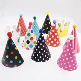 Wholesale Party Hats Suppliers - Wholesale-2016Fashion Style!11PCS Set Wholesale Cute Birthday Hat For Festive Party Photograph& Kids Birthday Party Decoration Suppliers