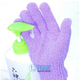 Wholesale Natural Gloves - Wholesale- 2016 New Fashion Personal Care Bath Accessories Natural Scrub Exfoliating Gloves Foam Flowers Body Brush (50 pieces lot) A484