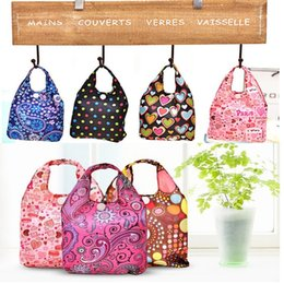 Wholesale Mother Doors - New Folding shopping bag mother bag Mummy bags handle bag size two sets of waterproof Storage Bags Multi color IA012