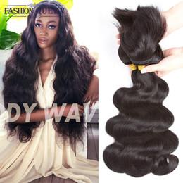 Wholesale Remy Human Braiding Hair - Braid In Hair 3 Bundles Brazilian Virgin Hair Body Wave 120g pc Braid Human Hair Weave Unprocessed Braid Extensions Natural Color
