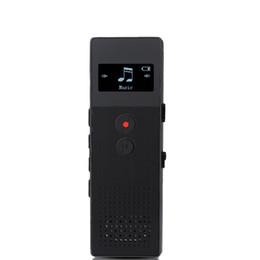 Wholesale Telephone Portable Digital - Wholesale- Professional Portable Business Digital Voice Recorder Audio Recorder 8GB Metal Voice Tracker Telephone Recording MP3 Player C6