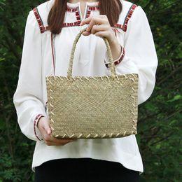 Wholesale Cloth Board - New Japanese straw bag Korean version of the board of women's mats woven cloth retro virgin bag handbag rattan beach beach bag