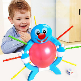 Wholesale Desk Novelty Gifts - Creative Family Game Indoor Novelty Blast Balloon Thrilling Toys Interactive Game Desk Toy Party Birthday Gifts