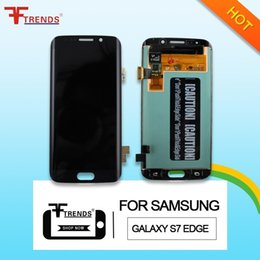 Wholesale Galaxy Phone Screen Replacement - For Samsung Galaxy S7 Edge G935F G935A G935V 935T Brand New original LCD display Touch Screen with frame digitizer Replacement phone repair