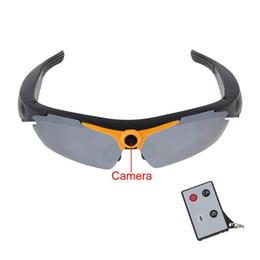 Wholesale Video Camera Head Hd - Digital Audio Video Camera DVR camo Sunglasses Full HD 720P Sport Camcorder Recorder 170 degree Wide Angle Sunglass +remote control