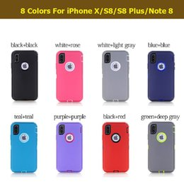 Wholesale Protective Covers For Iphone 4s - 3 in 1 Hybrid Robot Silicone + Plastic Hard Back Cover + Front Screen Protective Case for iPhone 4 4S 5 5S 5C 6 6S 7 Plus iPhone7