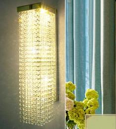 Wholesale Led Lights For Bathroom Mirror - luxury crystal sconce corridor LED indoor wall light lamps deco bathroom mirror light crystal wall lamps for home lighting LLFA