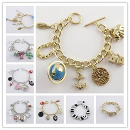 Wholesale Cheapest 14k - 2017 New Fashion Jewelry Cheap Brand Tennis Charm Bracelets Beaded Strands Cuff Identification Jelly Glow Link Chain Wedding Bracelets Mix