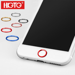 Wholesale Aluminum Home Sticker - New Aluminum Plus Home Key Box Portector Ring Sticker Touch ID Button Metal Round for IPhone 7 6 6s Plus 5 5s 4 4s