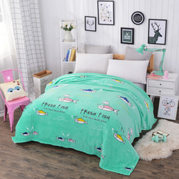 Wholesale Cheap King Beds - 150 180x200 Super thin Soft Cheap Flannel Fleece Blanket for summer On The Bed Sofa Throw Blanket New Store Sale