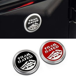 Wholesale Metal Stickers For Cars - 4PCS 3D Car Sticker Trail Rated 4X4 Metal Emblem Badge For Jeep Wrangler Patriot Grand Cherokee Trunk Logo Auto Decal Decoration