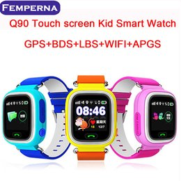 Wholesale baby touch monitor screen - Q90 GPS kids smart watch baby kid watch Wristband with Wifi touch screen SOS Call Location Device Safe Anti-Lost Monitor PK Q80 Q60