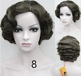 Wholesale Flapper Style - Flapper Hairstyles for Women Finger Wave Wig Retro Style Short Synthetic Wig